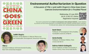 Book Talk Environmental Authoritarianism