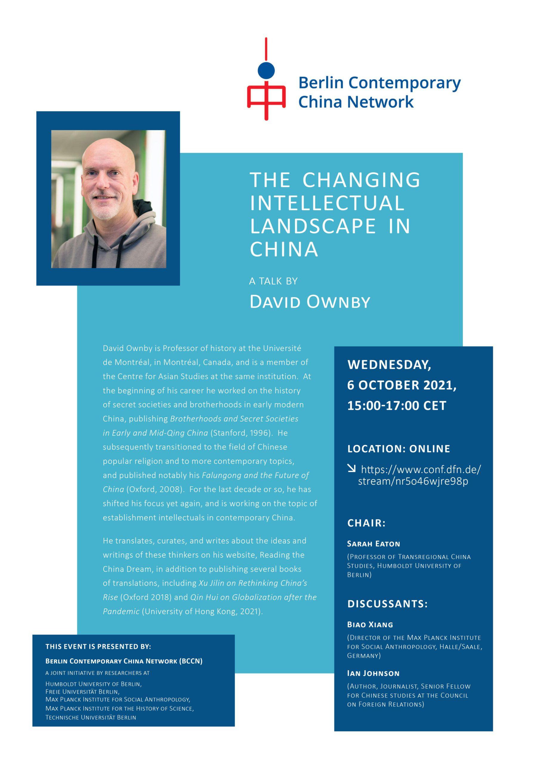 BCCN Talk, David Ownby, 6 October 2021