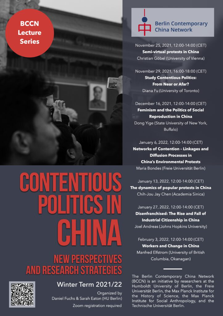 BCCN Lecture Series Contentious Politics in China